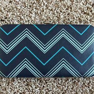 Handbags - Blue chevron hard wallet